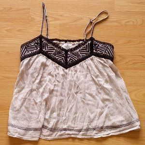 American Eagle Outfitters Embroidered Tank   Small